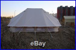 6x4 Meter Emperor Twin Bell Tents Safari Tent Waterproof Camping Glamping Yurt