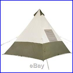 7 Person Teepee Outdoor Camping Tent Family Waterproof Large tall big size setup