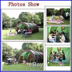 8-10Person 4-Season 189x122 Family Dome Camping Tent Waterproof Hiking Shelter