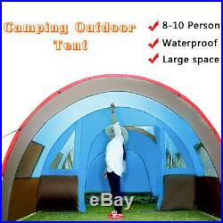 8-10 People Waterproof Portable Travel Camping Hiking Double Layer Outdoor Tent