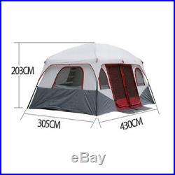 8-12 Person Instant Large Outdoor Camping Tent Family Dome Camp Shelter 2 Room