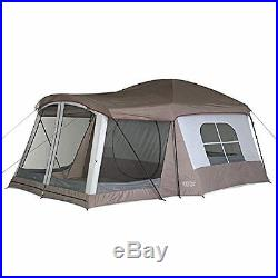 8 Person Cabin Dome Tent Family Camping Outdoor Fun With Screened Sun Room 16'x11