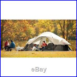 8 Person Camping Tent 3 Family Separate Rooms Travel Hiking Comfortable
