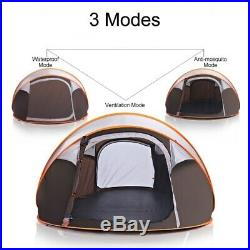 8 Person Camping Tent Waterproof UV Resistance Auto Setup Sun Shelters Hiking