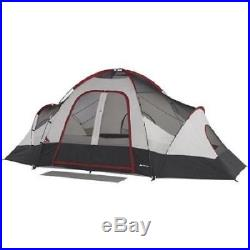 8 Person Ozark Trail Instant Cabin 2 Room Family Dome Tent Camping Outdoor