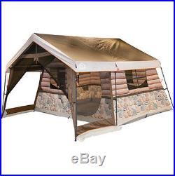 8 Person Tent Outdoor Log Cabin Style Waterproof UV Protection Camping Fishing