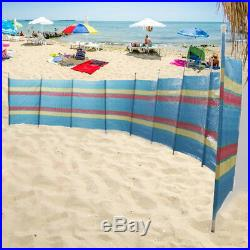 8 Pole 7 Section Windbreak Holiday Garden Camping Beach Sun Shade Windbreaker