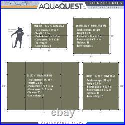 Aqua Quest Safari 13 x 10 ft Large Waterproof Tarp Olive Drab