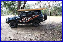 Awning 3M x 2M 280g Cross Thread Pullout Car Side Tent Camper Trailer 4X4 4WD 30