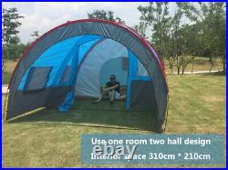 BEST Camping Tent Waterproof Tunnel Double Layer Large Family Tent 8-10 People