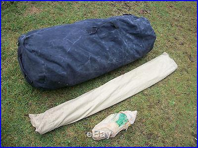 BIG VINTAGE WHITE STAG CANVAS CABIN TENT 12 X 9 VERY NICE CAMPING HUNTING C
