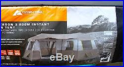 BRAND NEW Ozark Trail 12 Person 3 Room L-Shaped Instant Cabin Tent NEW