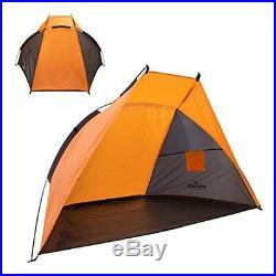 Beach Tent Rain & Sun Uv Protection Shade Festival Shelter Camping Fishing W Bag
