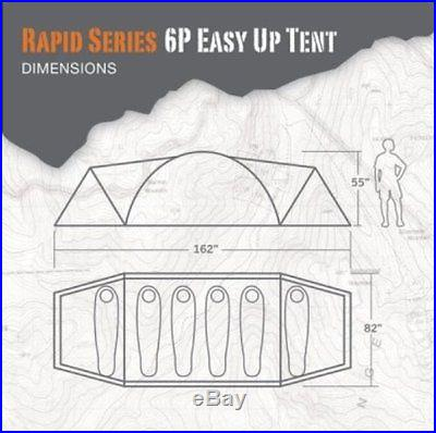 Bear Grylls Rapid Series BG 6-Person Tent Easy Set Up NEW! SETS UP IN SECONDS