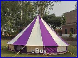 Bell tent 4 Meter 4M 400Ultimate ZIG Zipped-in-Groundsheet Purple 8 person tent