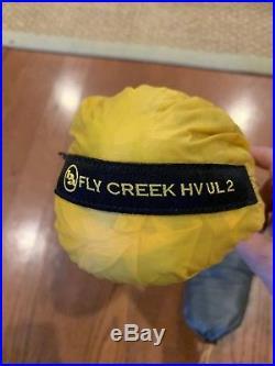 Big Agnes Fly Creek HV UL 2 3-Season Backpacking Tent-Ash/Yellow with footprint