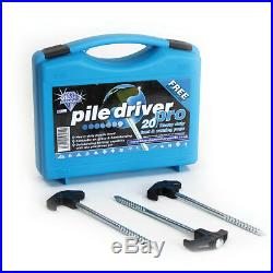 Blue Diamond Tent Awning Camping Heavy Duty Pile Driver Ground Pegs Pro- 20 Pack