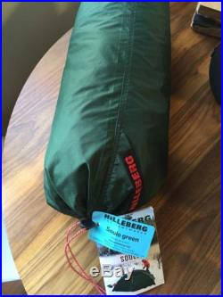 Brand New Hilleberg Soulo 1 Person Winter Tent in Green