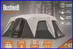 Bushnell 12 Person 3 Room Instant Cabin Trail Large Tent Camping Hiking Easy Set