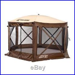 CLAM Pavilion Screen Hub 6 Sided Brn/Tan (BROWN) 9882