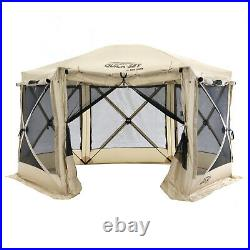 CLAM Quick-Set Pavilion 12.5 x 12.5 Foot Portable Outdoor Canopy Shelter, Tan