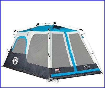 COLEMAN 8 Person 2 Room Waterproof Family Camping Instant Cabin Tent 14' x 8