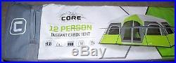 CORE Equipment 12 Person Instant Cabin Tent Green/Gray 18'x10' NEW