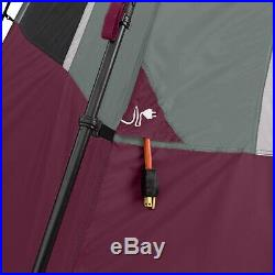 CORE Instant Cabin 11 x 9 Foot 6 Person Large Family Cabin Tent, Wine