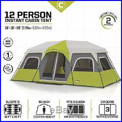 CORE Instant Cabin Screened12 Person Hinged Door Tent Waterproof new