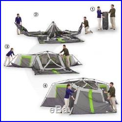 Cabin Tent For Camping 3 Room Divider Screen 12 Person Instant Big Family Travel