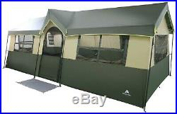 Cabin Tent Outdoor Family Camping Sleeping Hazel Creek Steel LED Light 12 Person