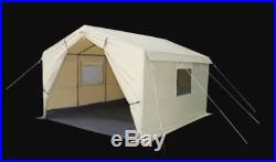 Cabin Wall Tent 12x10 Steel Frame Outdoor Camping Hiking Sleeping Shelter New