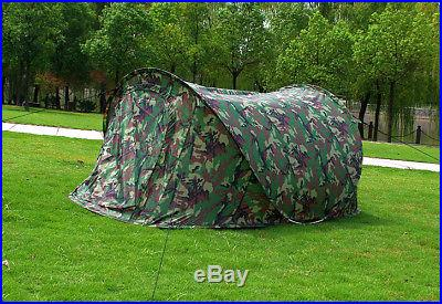 Camouflage Camo Portable Family Easy Setup Pop Up Camping Hiking Instant Tent