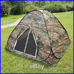 Camouflage Camping Hiking Easy setup Instant Pop Up Tent 2-3 Person Ideal Gift