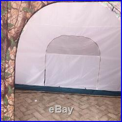 Camouflage Large Instant Tent Family 1 Room 2 Hall Outdoor Camping 8-10 Person