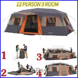 Camping Cabin Tent 12 Persons 3 Rooms Instant Easy Outdoor Family and Friends