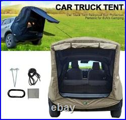 Camping Car Truck Tent Extention Universal Car Tail Outdoor Rainproof Black