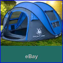 Camping Pop up Tent 3-4 Person Automatic Travel Fishing Hiking Shelter Windproof
