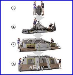 Camping Tent 10 Person 3 Room Instant Setup Cabin Tents Outdoor Canopy Hiking