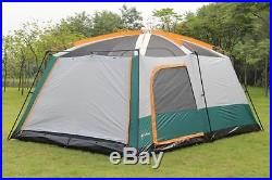 Camping Tent 6-12 Person Outdoor 2 Room Family Fast Pitch Cabin Carry Bag