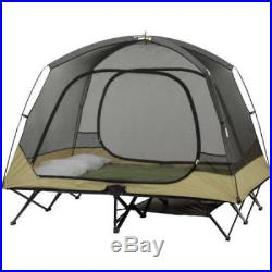 Camping Tent Padded Cot Portable Shelter Outdoor Travel Mesh Curtain 2 Person