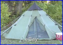 Camping Tent Teepee Survival 6 Person Heavy Duty Waterproof Outdoor Hiking Trail