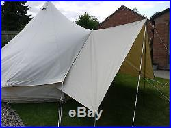 Canvas Awning for Bell Tent / Tarp Large 400 x 240cm By Bell Tent Boutique