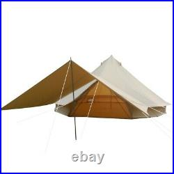 Canvas Bell Tent 4M Glamping Waterproof Camping Yurt 4-Season Awning Flying Tent