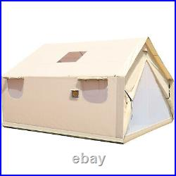 Canvas Wall Tent 12'x14' with Frame, Fire Water Repellent, 4 Season