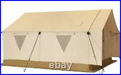 Canvas Wall Tent 14'x16' withAluminum Frame, Water repellent for Outfitter & Winter