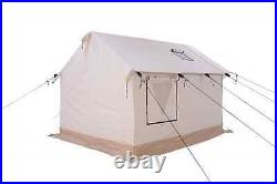 Canvas Wall Tent 8'x10' withAluminum Frame, Fire Retardant for Outfitter & Winter