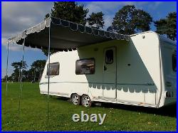Caravan Awning Canopy Vintage Retro Style Sun Shade OLPRO Charcoal