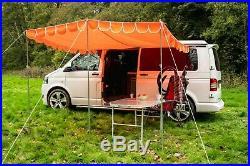 Caravan Canopy Retro Awning vintage retro style Sun Shade OLPRO Orange