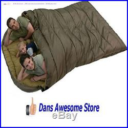 Cold Weather Sleeping Bag Zero Degree 2 Person Queen Size Oversized Camping New